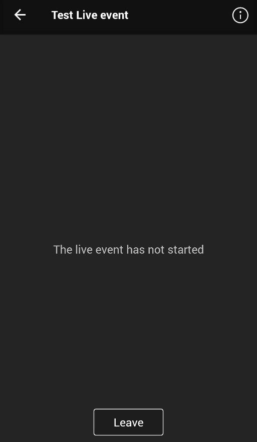 Event has not started screenshot