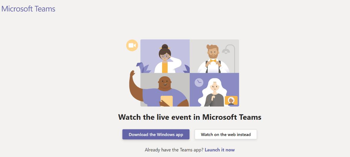 Watch event on teams screenshot